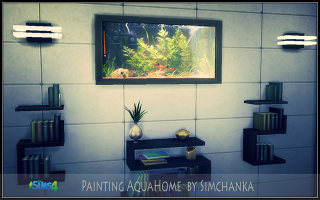 Sims 4 Decor Painting AquaHome  by Simchanka at ihelensims.org.ru