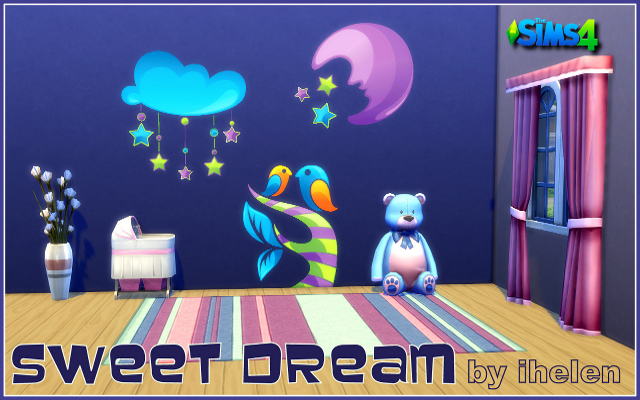 Sims 4 Decor Sticker Sweet Dream by ihelen at ihelensims.org.ru