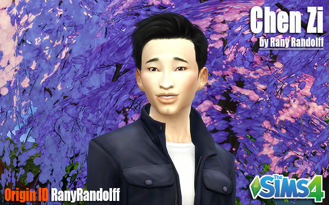 Sims 4 Sims model Chen Zi by Rany Randolff at ihelensims.org.ru