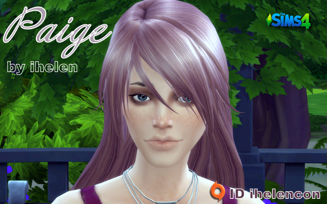 Sims 4 Sims model Paige by ihelen at ihelensims.org.ru
