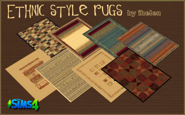 Sims 4 Decor Ethnic style rugs by helen at ihelensims.org.ru