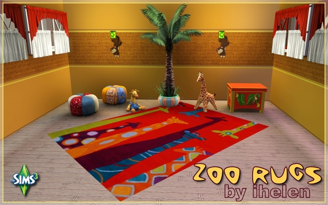 Sims 3 Decor Zoo rugs by ihelen at ihelensims.org.ru