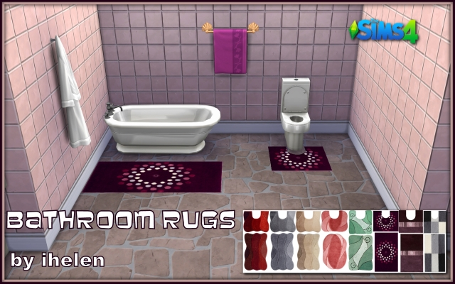 Sims 4 Decor Bathroom Rugs by ihelen at ihelensims.org.ru