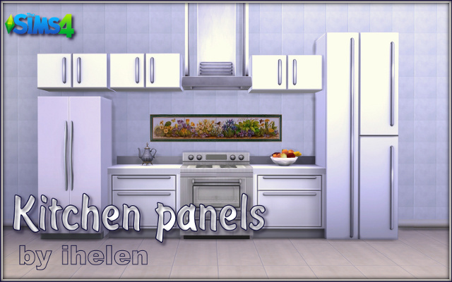 Sims 4 Build/Walls/Floors Kitchen Panels by ihelen at ihelensims.org.ru