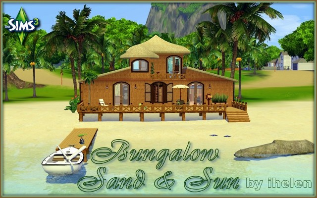 Sims 3 Residential lot Bungalow Sand and Sun by ihelen at ihelensims.org.ru
