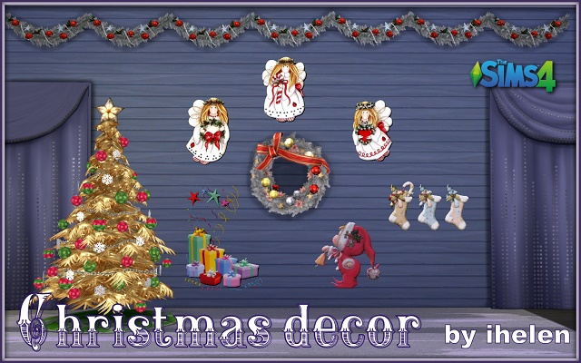 Sims 4 Decor Christmas decor(TS4) by ihelen at ihelensims.org.ru