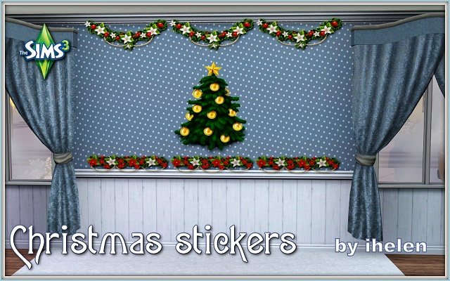 Sims 3 Decor Christmas stickers(TS3) by ihelen at ihelensims.org.ru