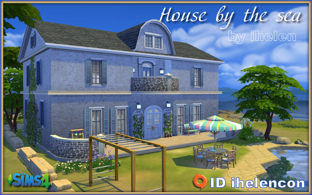 Sims 4 Residential lot House by the sea by ihelen at ihelensims.org.ru