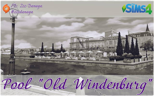 "Sims 4 Community lot Pool ""Old Widenburg"" by Zzz-Danaya at ihelensims.org.ru"