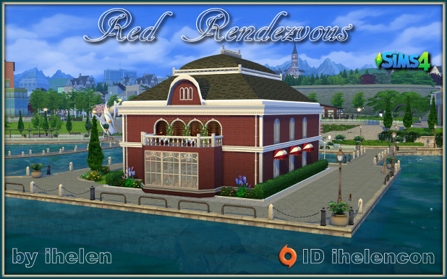 Sims 4 Community lot Red Rendezvous by ihelen at ihelensims.org.ru