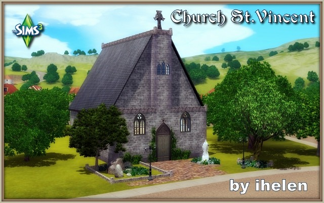 Sims 3 Community lot Church St.Vincent by ihelen at ihelensims.org.ru