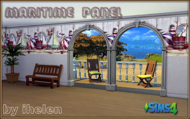 Sims 4 Build/Walls/Floors Maritime panel by ihelen at ihelensims.org.ru