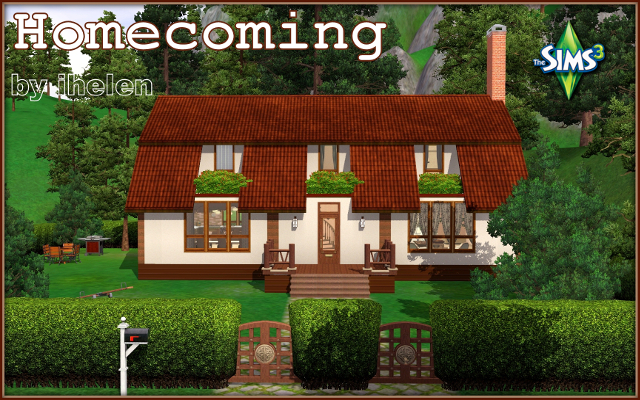 Sims 3 Residential lot Homecoming by ihelen at ihelensims.org.ru