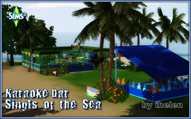 Sims 3 Community lot Karaoke-bar Songs of the Sea by ihelen at ihelensims.org.ru