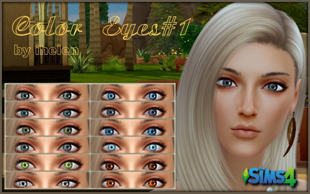 Sims 4 Makeup Color Eyes#1 by ihelen at ihelensims.org.ru