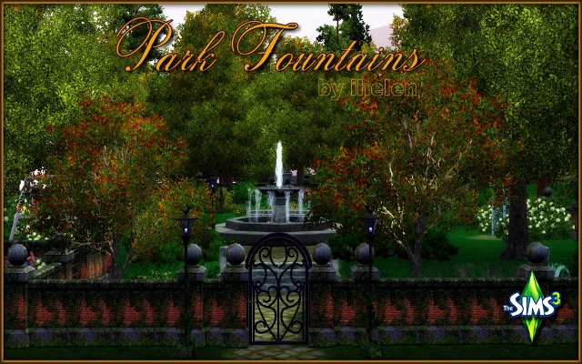 Sims 3 Community lot Park Fountains by ihelen at ihelensims.org.ru