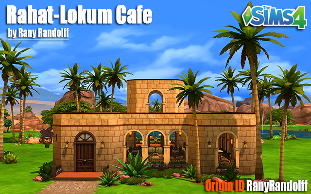 Sims 4 Community lot Rahat-Lokum Cafe by Rany Randolff at ihelensims.org.ru
