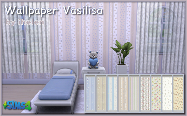 Sims 4 Build/Walls/Floors Wallpaper Vasilisa by ihelen at ihelensims.org.ru