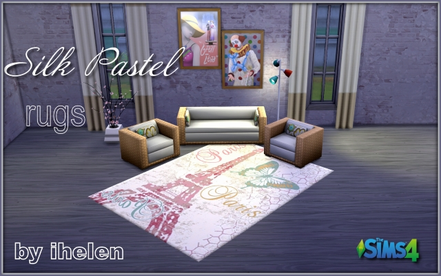 Sims 4 Decor Rugs Silk Pastel by ihelen at ihelensims.org.ru