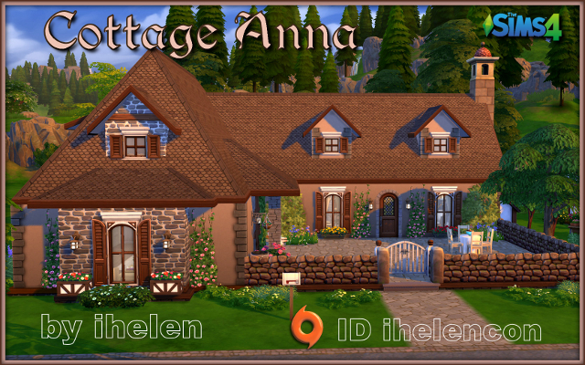 Sims 4 Residential lot Cottage Anna by ihelen at ihelensims.org.ru