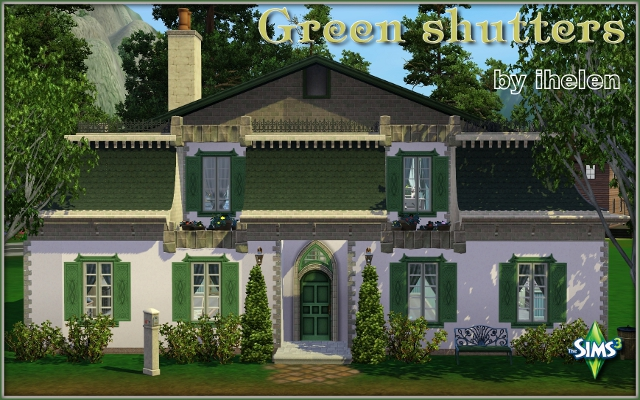 Sims 3 Residential lot Green Shutters by ihelen at ihelensims.org.ru