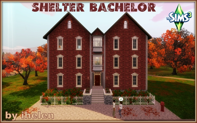 Sims 3 Residential lot Shelter bachelor by ihelen at ihelensims.org.ru
