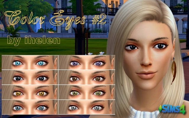 Sims 4 Makeup Color Eyes#2 by ihelen at ihelensims.org.ru