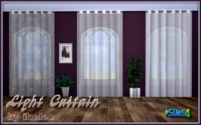 Sims 4 Decor Light Curtain by ihelen at ihelensims.org.ru