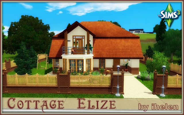 Sims 3 Residential lot Cottage Elize by ihelen at ihelensims.org.ru