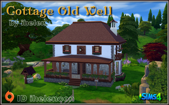 Sims 4 Residential lot Cottage Old Well by ihelen at ihelensims.org.ru
