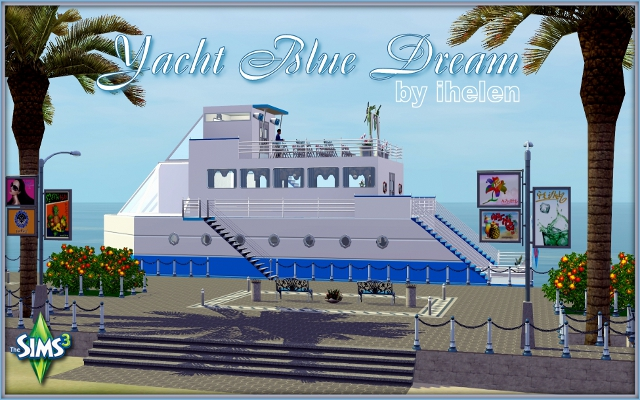 Sims 3 Community lot Yacht Blue Dream by ihelen at ihelensims.org.ru