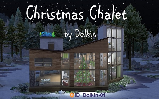 Sims 4 Residential lot Christmas Chalet by Dolkin at ihelensims.org.ru