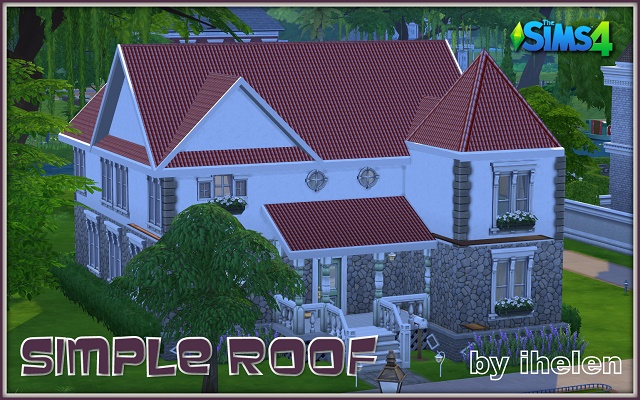 Sims 4 Build/Walls/Floors Simple Roof by ihelen at ihelensims.org.ru