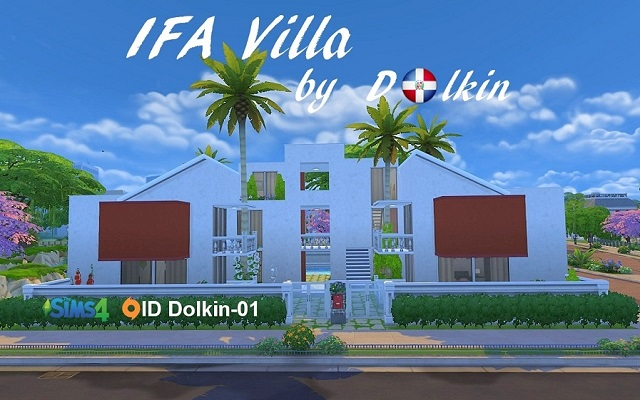 Sims 4 Residential lot IFA Villa by Dolkin at ihelensims.org.ru