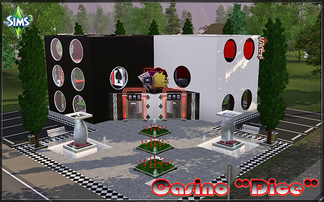 Sims 3 Community lot Casino «Dice» by fatalist at ihelensims.org.ru