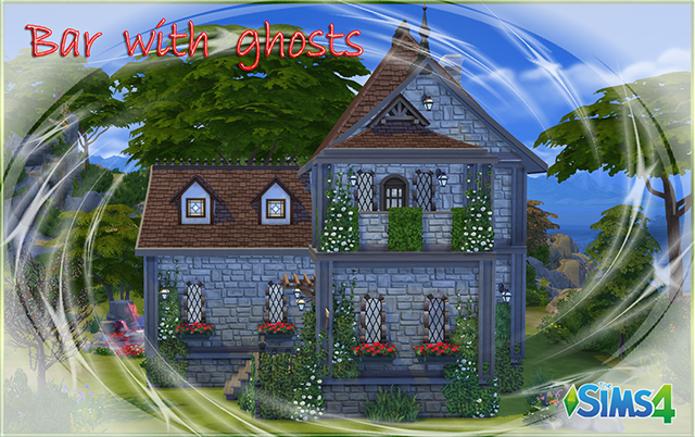 "Sims 4 Community lot ""Bar with ghosts""  by fatalist at ihelensims.org.ru"