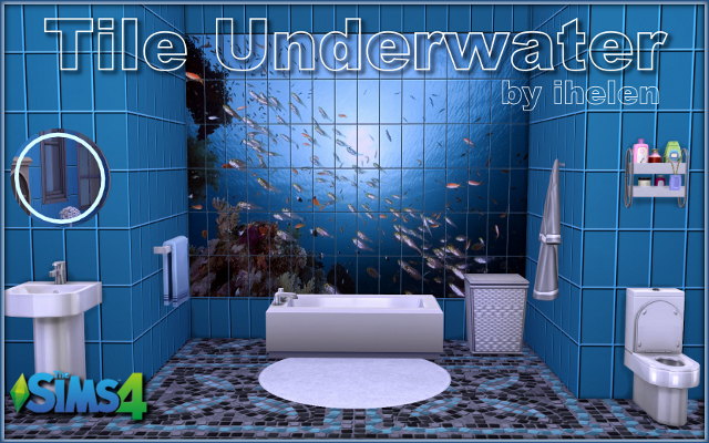 Sims 4 Build/Walls/Floors Tile Underwater by ihelen at ihelensims.org.ru