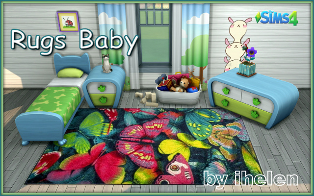 Sims 4 Decor Rugs Baby by ihelen at ihelensims.org.ru