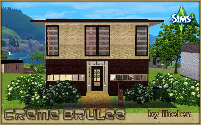 Sims 3 Residential lot Creme brulee by ihelen at ihelensims.org.ru