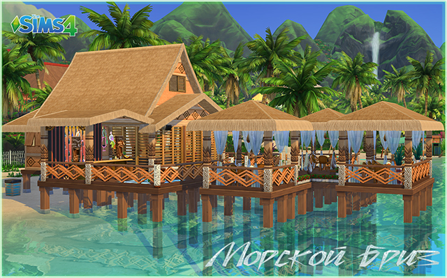 "Sims 4 Community lot ""Sea breeze"" by fatalist at ihelensims.org.ru"