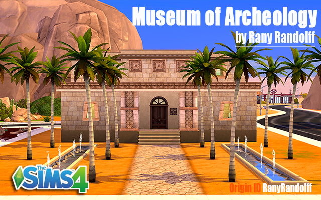 Sims 4 Community lot Museum of Archeology by Rany Raydolff at ihelensims.org.ru