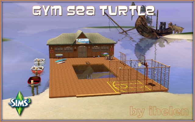 Sims 3 Community lot Gym Sea Turtle by ihelen at ihelensims.org.ru
