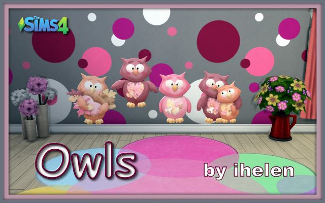 Sims 4 Decor Owls by ihelen at ihelensims.org.ru