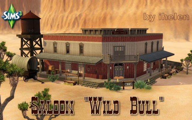 Sims 3 Community lot Saloon Wild Bull by ihelen at ihelensims.org.ru