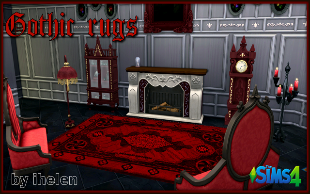 Sims 4 Decor Gothic rugs by ihelen at ihelensims.org.ru