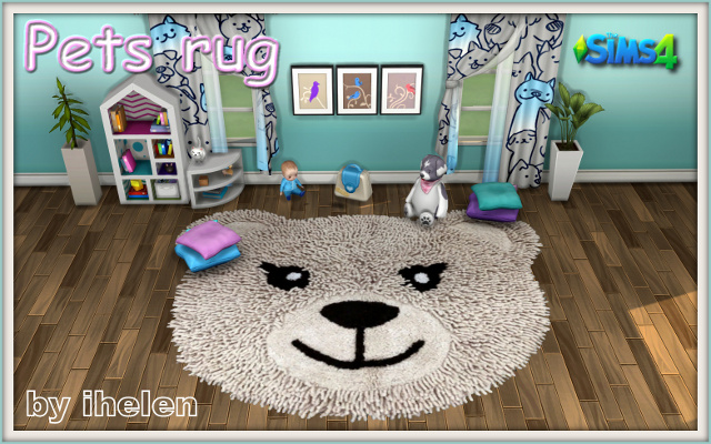 Sims 4 Decor Pets Rug by ihelen at ihelensims.org.ru