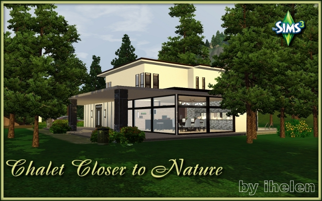 Sims 3 Residential lot Chalet Closer to Nature by ihelen at ihelensims.org.ru