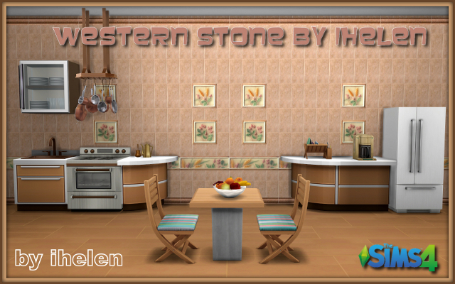 Sims 4 Build/Walls/Floors Western Stone by ihelen at ihelensims.org.ru