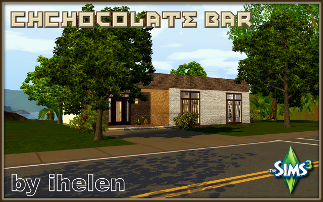 Sims 3 Residential lot Chocolate bar by ihelen at ihelensims.org.ru