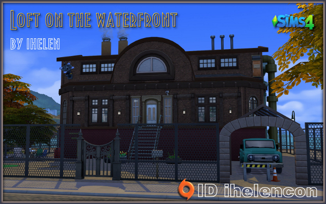 Sims 4 Residential lot Loft on the waterfront by ihelen at ihelensims.org.ru